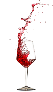 pohar cerveneho vina